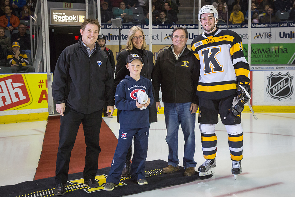 Frontenacs Academic player of the month for November 2015 Ryan Cranford