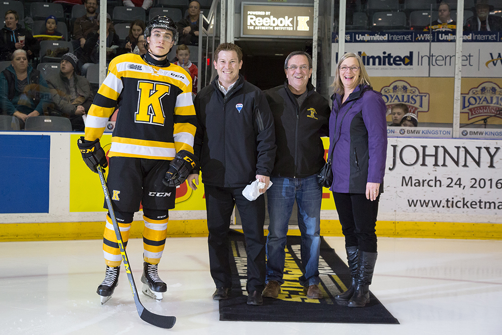 Frontenacs Academic player of the month for December 2015 Nathan Billitier